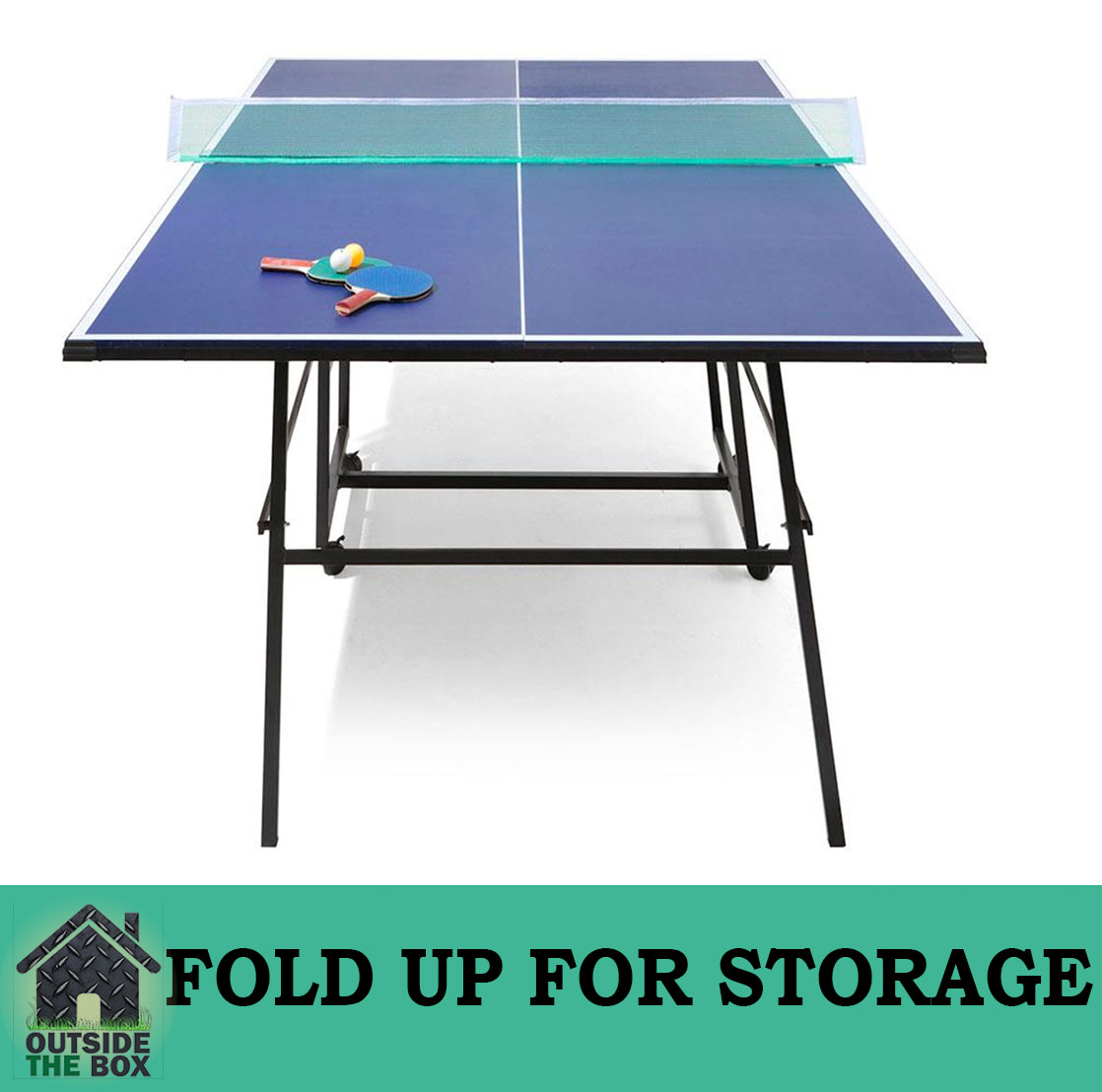 New ITTF Approved Pro Size Fold Up Table Tennis Ping Pong Table 13mm ...