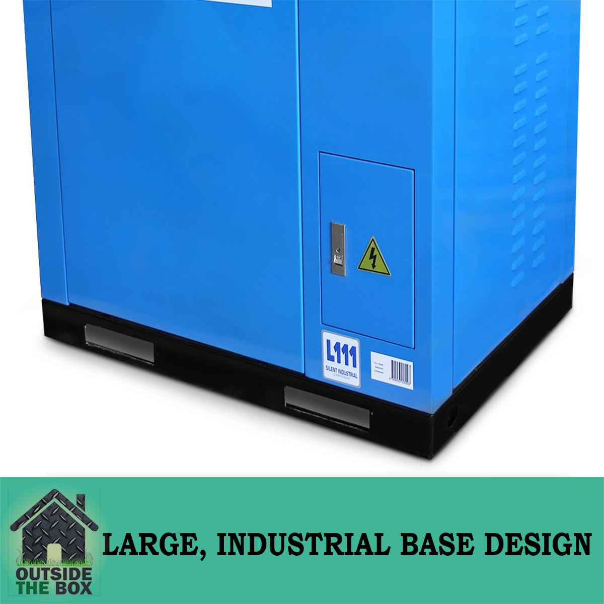 Lincoln L111 10hp Silent Air Compressor With Large Industrial And Electronic Circuit Design01 Design 3 Cylinders