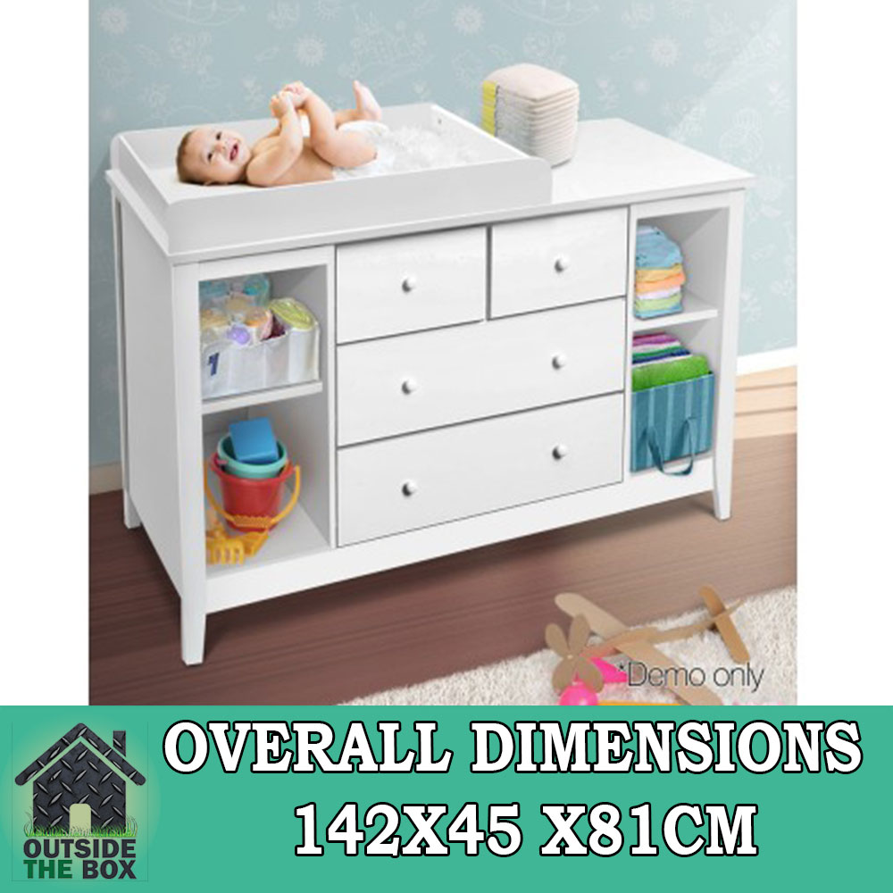 Baby Change Table Chest Dresser Cabinet